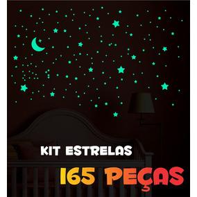 Adesivos Que Brilham No Escuro - Kit Estrelas - 165 Peças