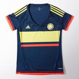 Camiseta Selección Colombia Dama Azul Alternativa adidas