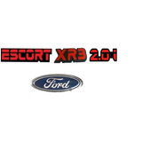 Kit Emb Escort + Xr3 + 2.0i Vermelho + Ford Oval Mala