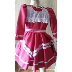 Vestido De Prenda 2-3 Anos - Consulte Modelos! Roupa Típica