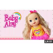 Baby Alive Painel 1,50x1,00m Festa Lona Banner Aniversário