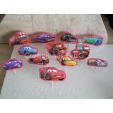 Toppers De Cars Decoración Para Torta Cupcakes - La Docena