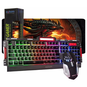 Teclado Semi Mecânico Gamer Usb Bk3000 Mouse Pad Grande