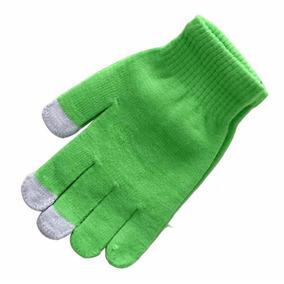 Guantes Touch Glove Verdes Permiten Uso De Touch Screen