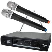 Par Microfonos Inalambricos Alta Calidad Con Cable Vhf