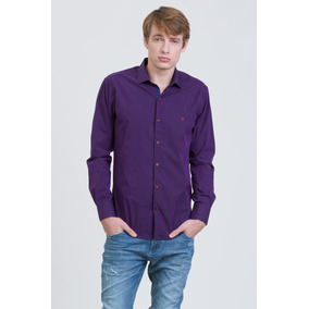 Camisa Barney Manga Larga Slim Fit Prototype Hombre