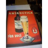 Placa Decorativa Antarctica Pra Voce Retangular