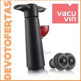 Bomba De Vacio Vacu Vin Para Botellas Vino Tapon Vacuvin