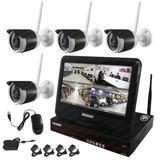Kit Nvr 4ch 4 Camaras Ip Hd Monitor De 10.1 Seguridad Cctv