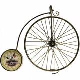 Relogio Bicicleta Antiga De Mesa Vintage Antiquario 40cm