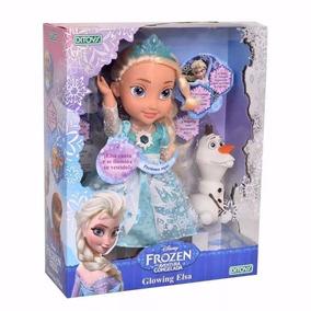 Muñeca Glowing Elsa Frozen Canta Se Ilumina Original Ditoys