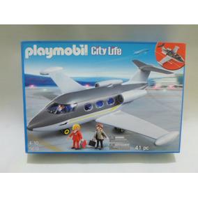 Playmobil Set 5619 Avion Privado Marca Geobra Del 2012 Nuevo