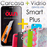 Carcasa + Vidrio Templado Own Smart Plus + Usb | Zbyte