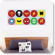 Adesivo Para Cabeceira De Cama Super Heróis Marvel E Dc