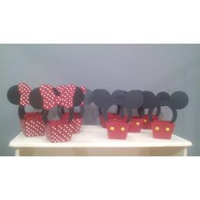 20 Lembrancinhas Cachepot Minnie E Mickey