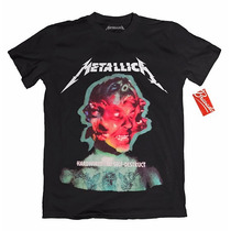 Playera Metallica Oficial Rock Tallas Original Grupos Metal