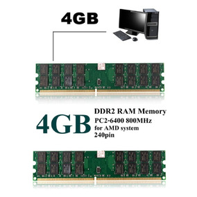 Memoria Dimm Ddr2 4g Ram 800mhz Pc2-6400 Pin 240 P/ Amd