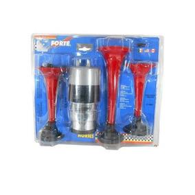 Corneta Triple Cromada Plastico - 00321