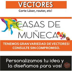 Pack Vectores Casas De Muñecas Laser Cnc Dxf Cdr X Descarga!