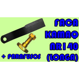 Faca Roçadeira Kamaq Nr140 (longa) + Parafusos (jogo)