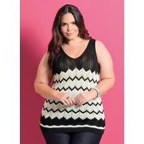 Blusa / Regata Plus Size Feminina ( Roupa Grandes ) Trico