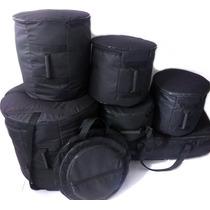 Capa Bag Para Bateria 8 Peças Completa Extra Luxo Com Espuma