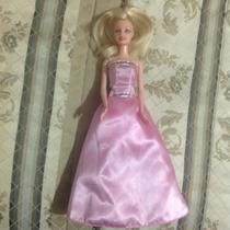 Barbie Princesas Moda París Luz Vestido Magico Usada