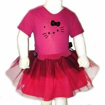 Disfraz Halloween Para Bebes Pañalero +tutu- Kitty Moño