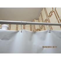 Cortina Box Pvc Com Ganchos De Metal Banheiro Banheira