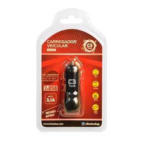 Carregador Veicular Para Telefone/tablet/mp3 C3 Tech Uc-24