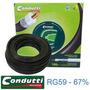 Cabo Coaxial Rg59 Antena Digital /cftv 100mts - Condutti
