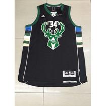 Musculosa De Basket Milwaukee #34 Bucks Store Nba
