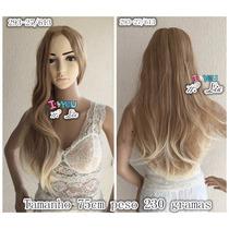 Peruca Longa 293/27/613 Lace 230g 75cm Loira Ombre Hair Cali