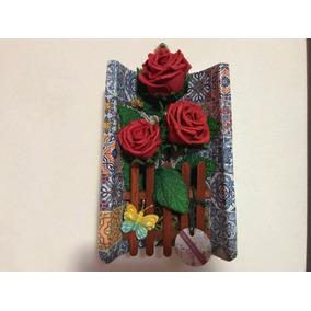 Rosas Vermelhas Em Eva (telha Decoração Artesanato Natal)