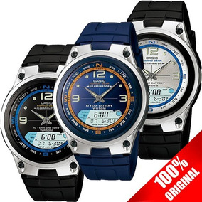 Reloj Casio Aw 82 Azul Fases Lunares Cronómetro Modo Pesca
