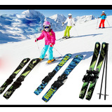 Ski Nieve Niños-jovenes/70 Cms/con Bastones Incluidos
