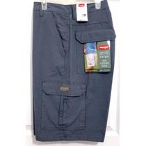 Wrangler Cargo Short Azul Acero 100% Original