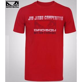 Camiseta Bad Boy Competidor Jiu Jitsu Vermelha