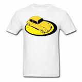 Camiseta Fusca Transfer Em Malha Algodão Fio 30.1 Penteado