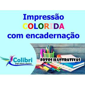 1230 Impressões 60 Encadernações - Apostila - Frete Grátis