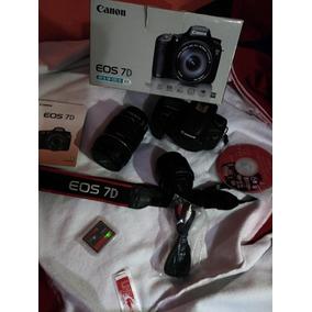 Câmera Canon 7d + 18-135 + 50mm 1.8 + Cartão - Linda!
