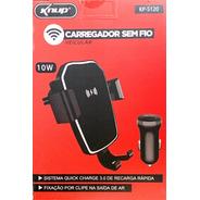 Carregador E Suporte Veicular Wifi Indução C/ Sensor 10w