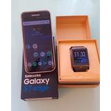 Samsung S7 Edge 32gb + Smart Watch Gear 2 Neo Black