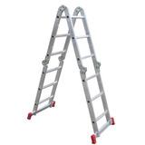 Escada Articulada Alumínio Botafogo®- 3x4 Com 13 Posições -
