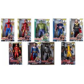 Boneco Flash Homem Aranha Thor Vingadores 30cm Com Som
