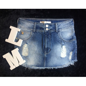Saia Jeans Destroyed Lança Perfume