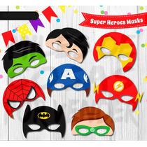 Mascara Antifaz Super Heroes Superman Thor Flash Spiderman