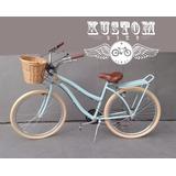 Bicicleta Urbana Retrô Vintage Cestinha Inspired Harley