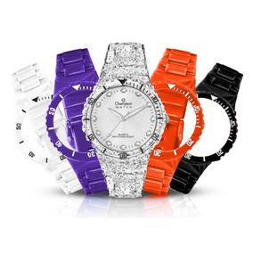 f01e21e544b Promoção!! Relógio Champion Troca Pulseiras Led Prova Dágua ...