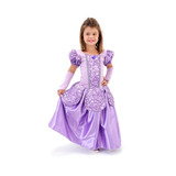 Linda Fantasia Vestido Infantil Princesa Sofia Luxo C/ Luvas
